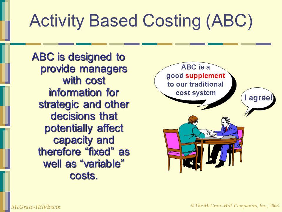 activity based costing abc hunter company