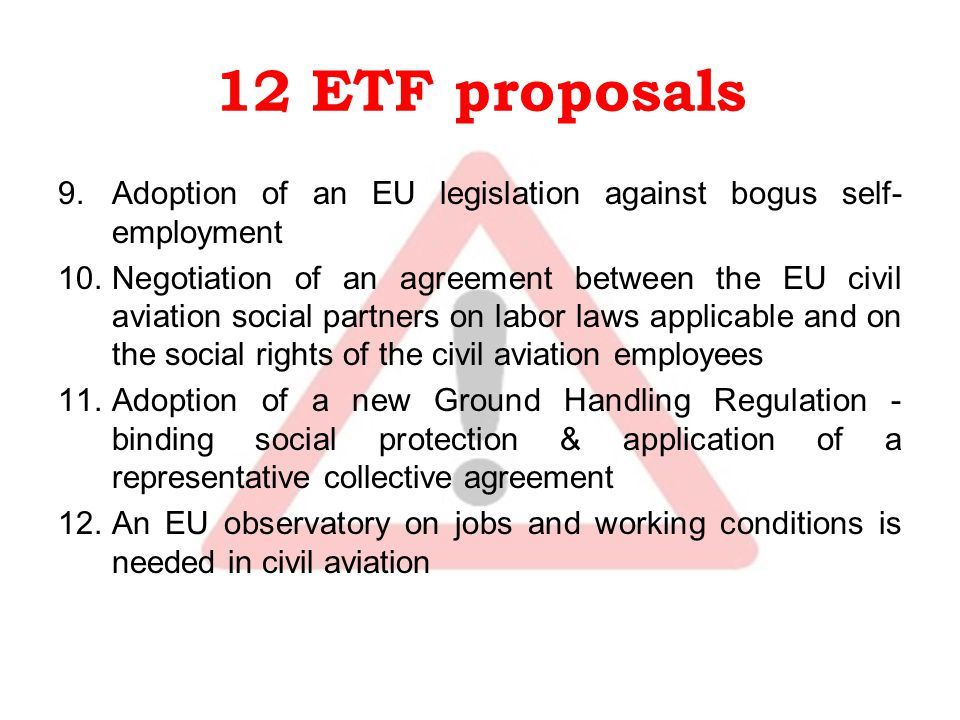 Social Dumping In Civil Aviation Etf Views  Ppt Download