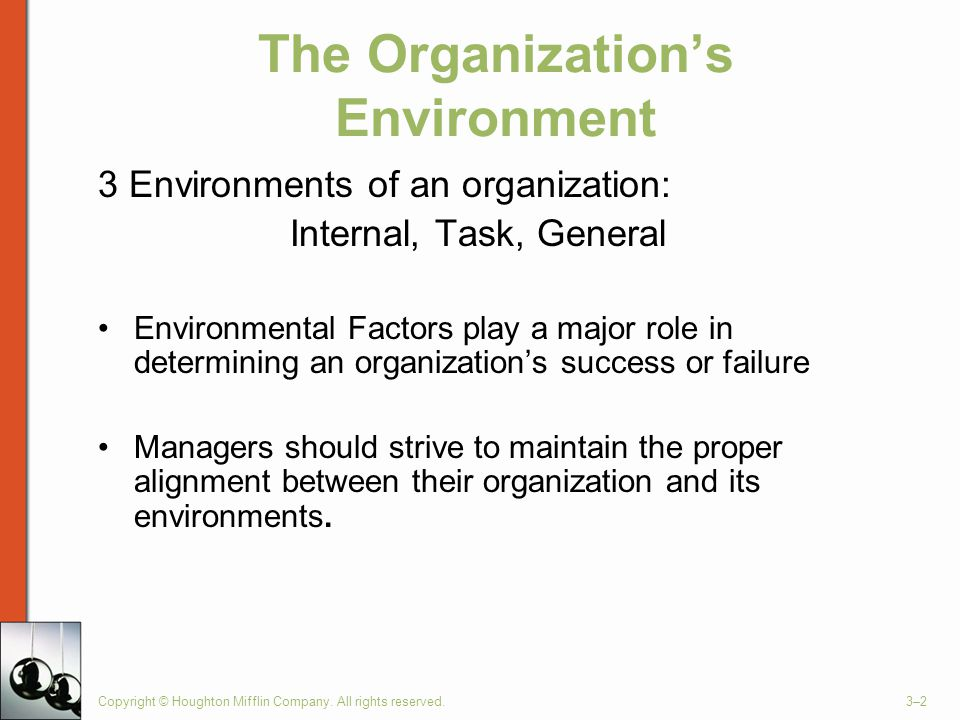 organization within its environment Organizational change occurs when a company makes a transition from its current state to some desired future state managing organizational change is the process of planning and implementing.