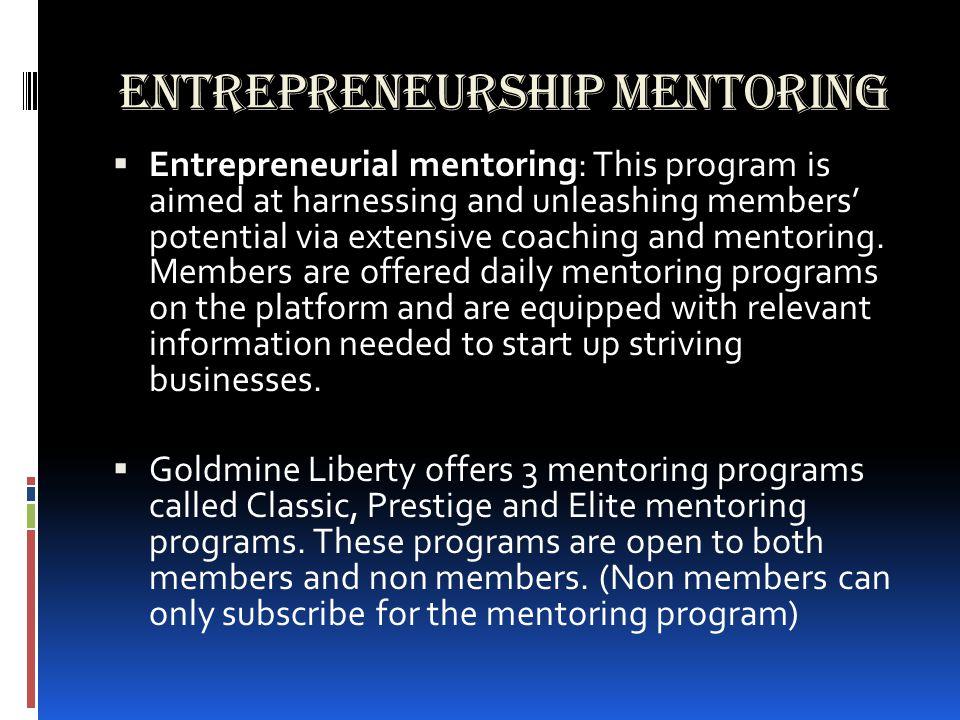 how to start a business mentoring program