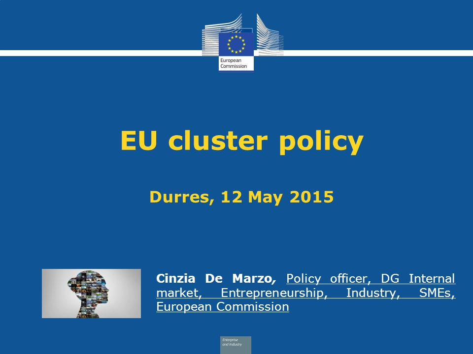 EU cluster policy Durres, 12 May 2015