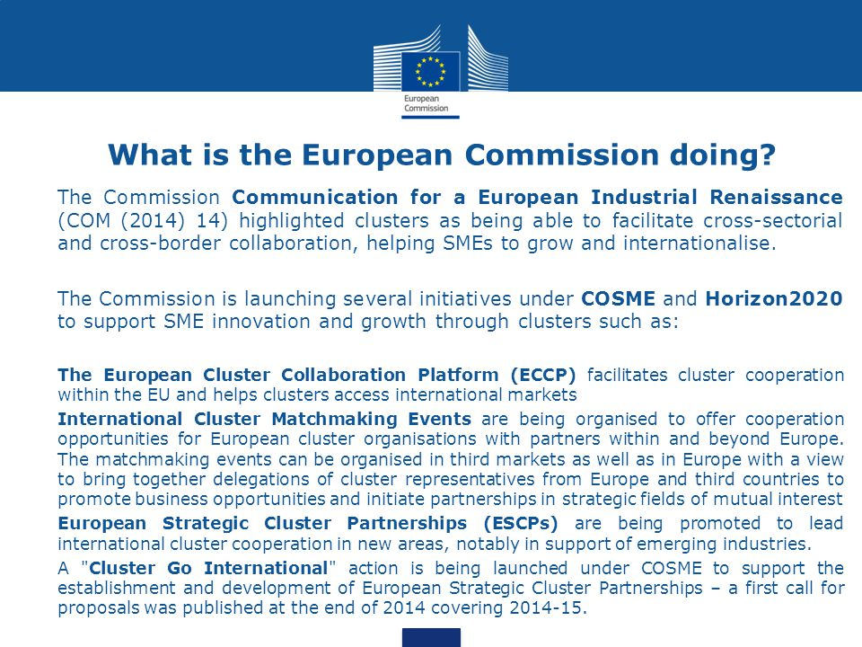 What is the European Commission doing