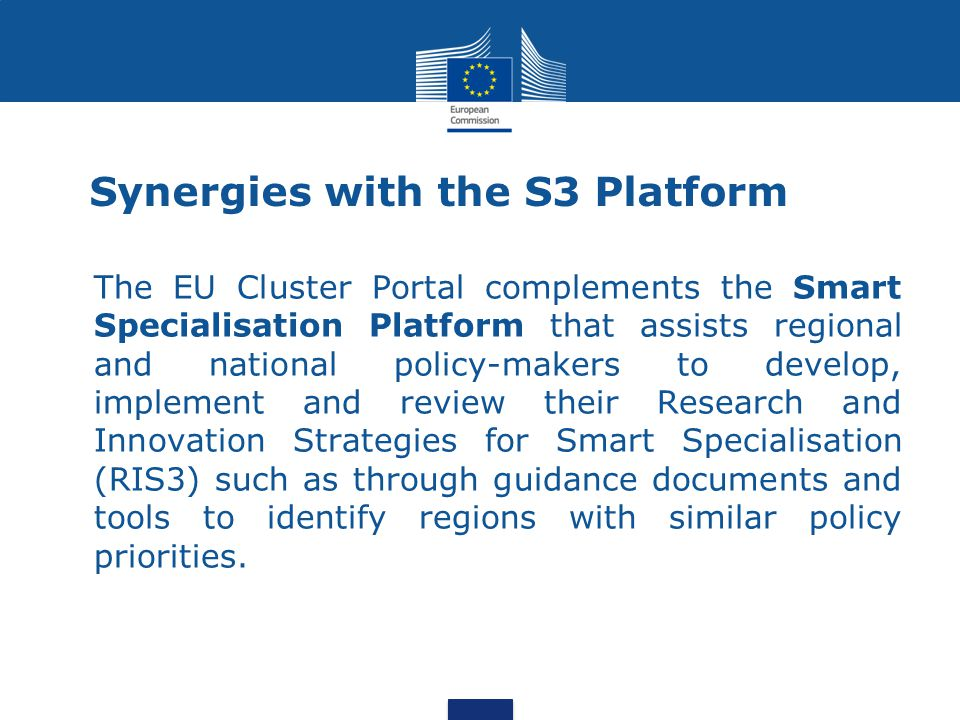 Synergies with the S3 Platform