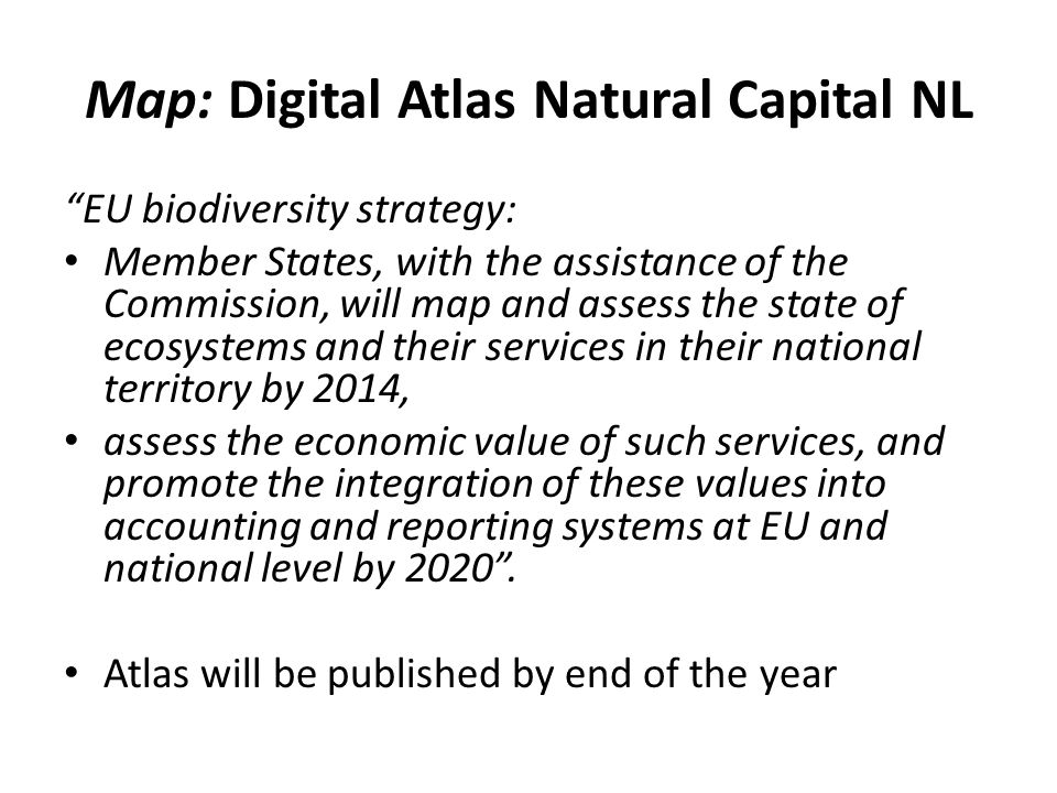 Map: Digital Atlas Natural Capital NL
