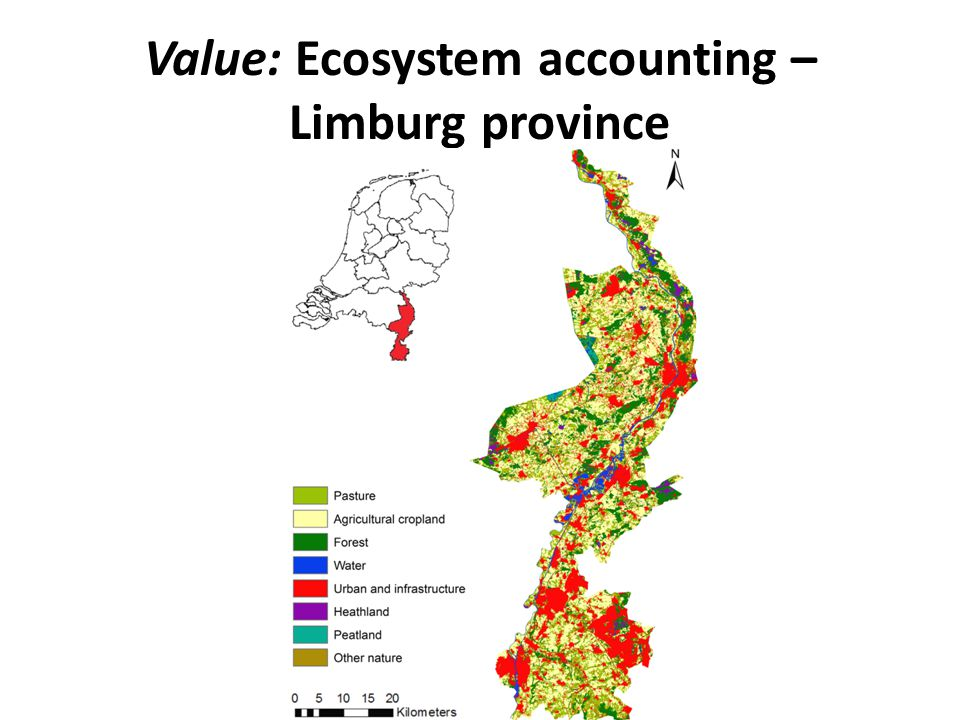 Value: Ecosystem accounting – Limburg province