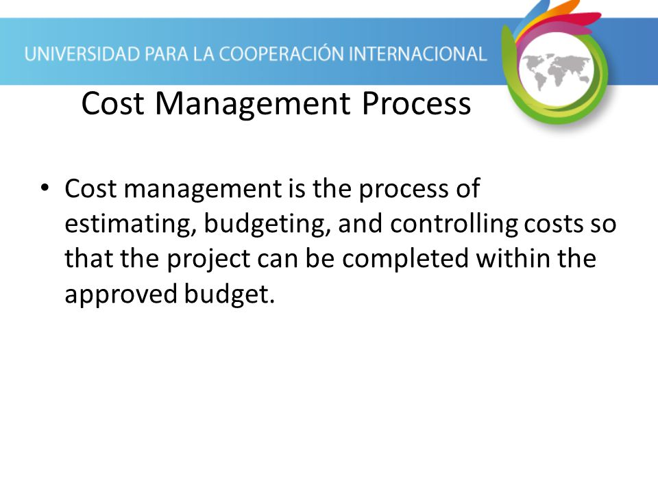 Cost Management Process