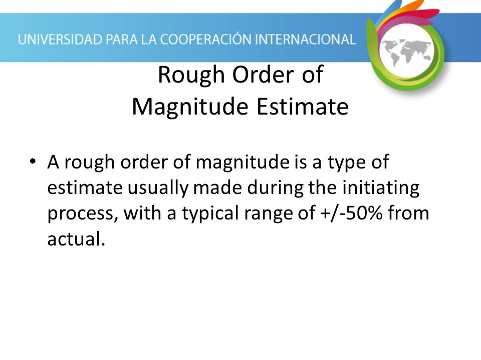 Order of magnitude estimate example plymouth dome rough order of magnitude estimate pronofoot35fo Gallery