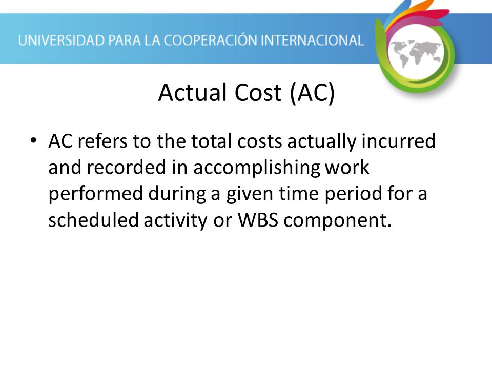 Actual Cost (AC)