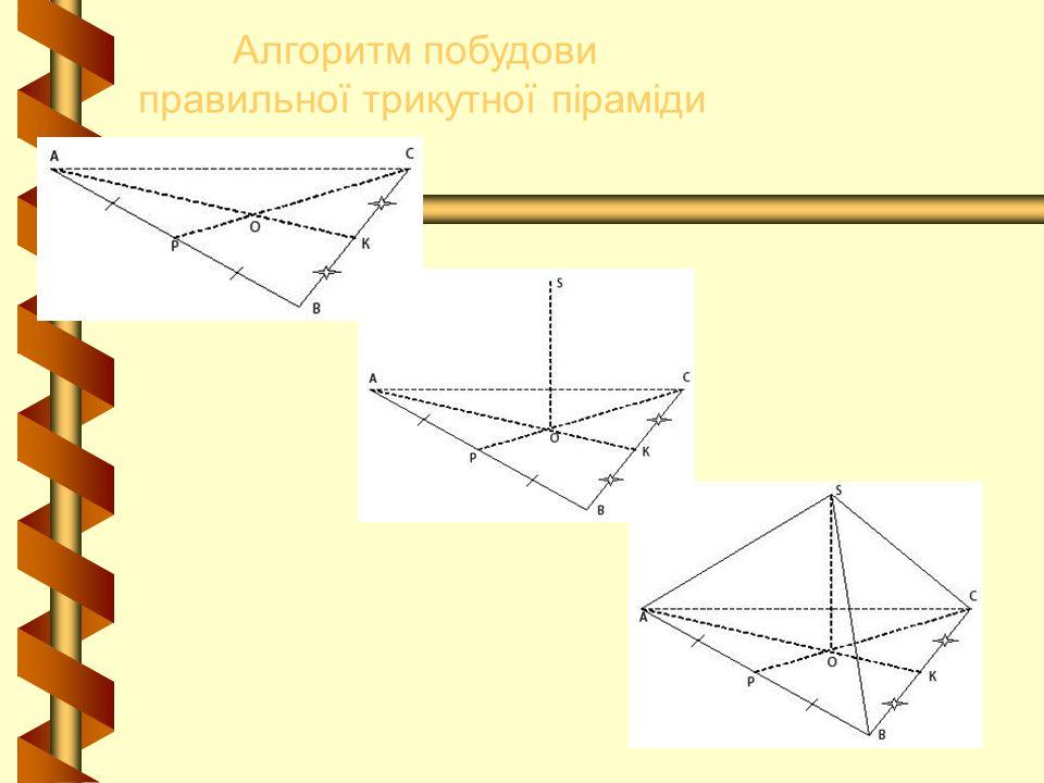 правильної трикутної піраміди