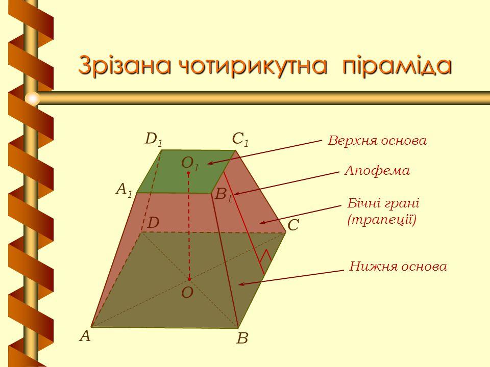 Зрізана чотирикутна піраміда