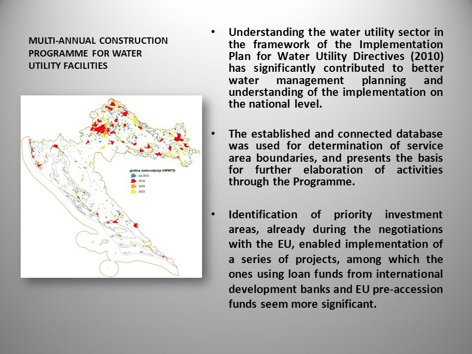 Water utility infrastructure in the republic of croatia ppt multi annual construction programme for water utility facilities publicscrutiny Gallery