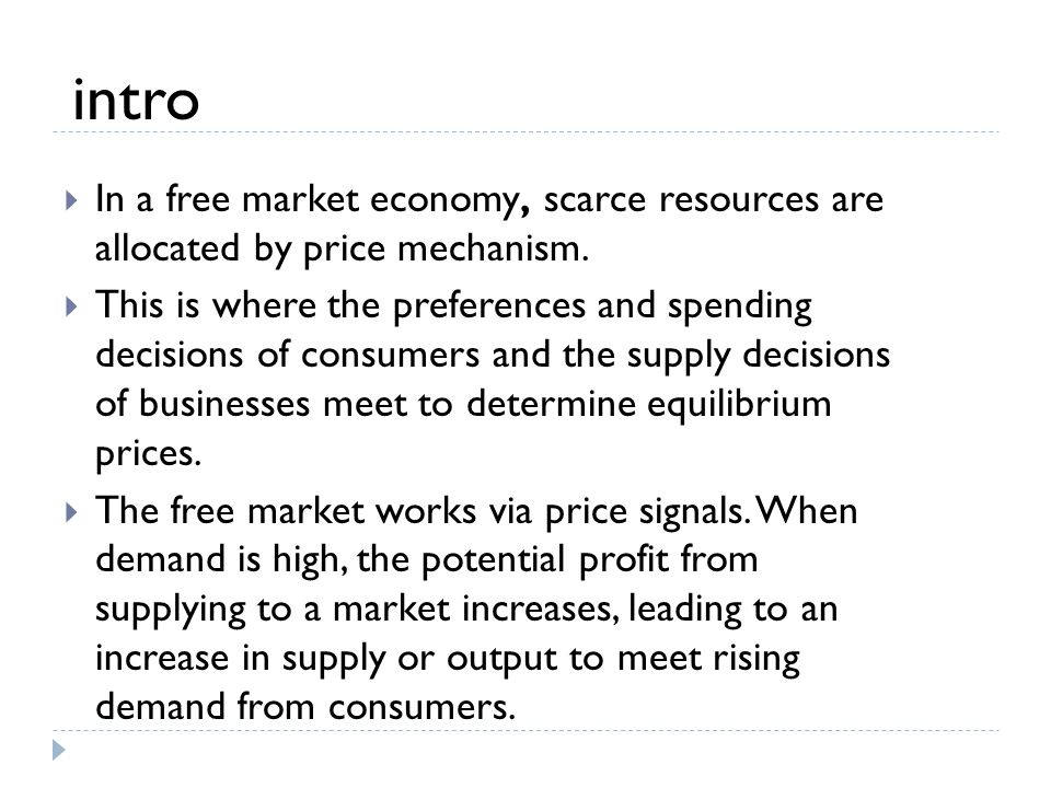 an introduction to the free market economy Mixed economy definition, an economy in which there are elements of both public and private enterprise see more.