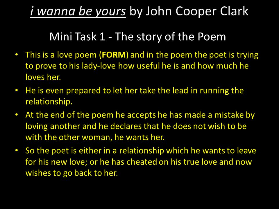 Mini Task 1 - The story of the Poem