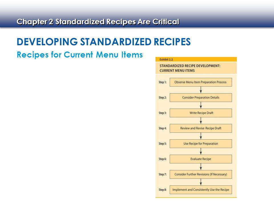 how to create a standardized recipe