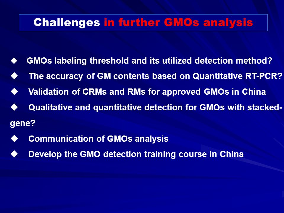 Detection of genetically modified organisms