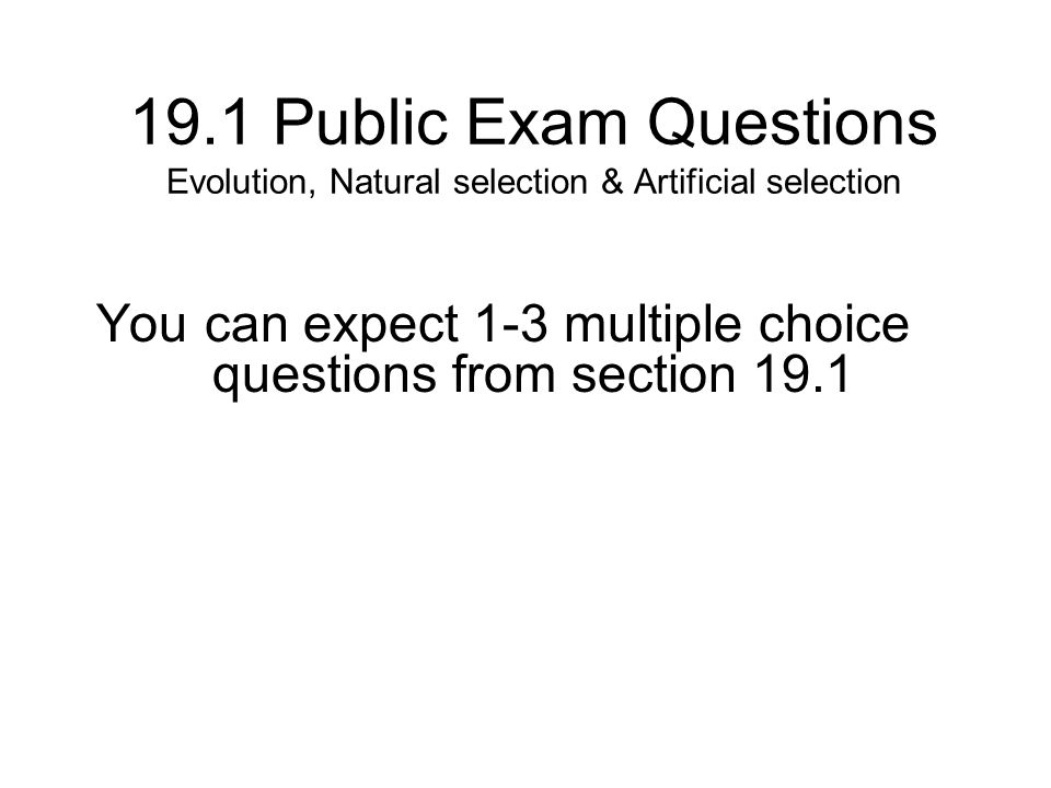 evolution multiple choice questions