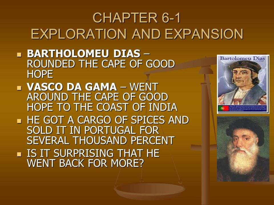Ch 19 Age Of Exploration Slides: CHAPTER 6 THE AGE OF EXPLORATION.