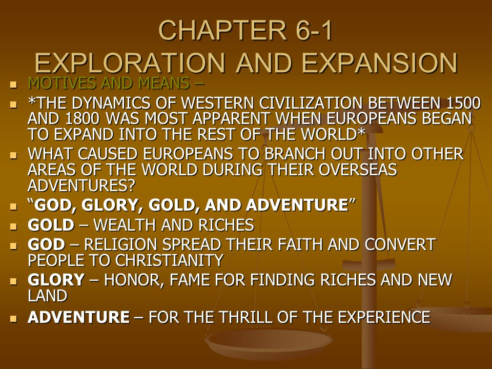the age of exploration and expansion Learn about the age of exploration, columbus and da gama with flocabulary's  educational rap song and lesson plan.