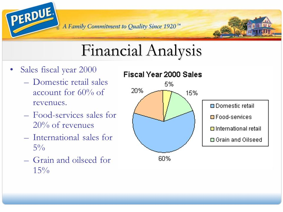 Financial Analysis Sales fiscal year 2000