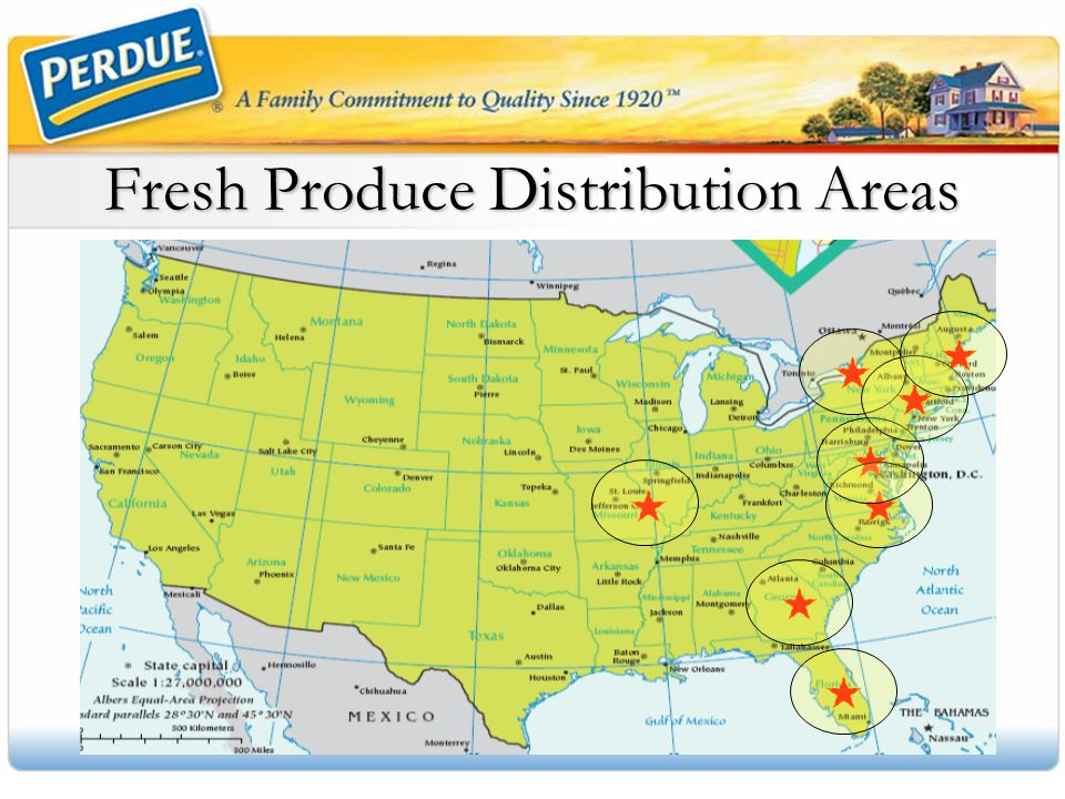 Fresh Produce Distribution Areas