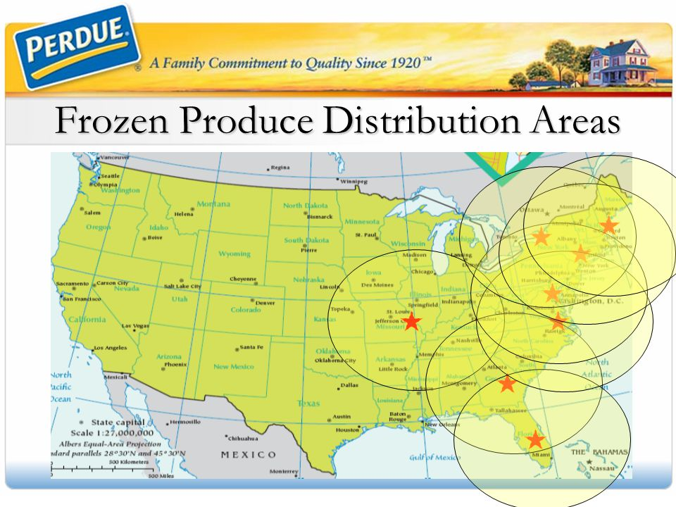 Frozen Produce Distribution Areas