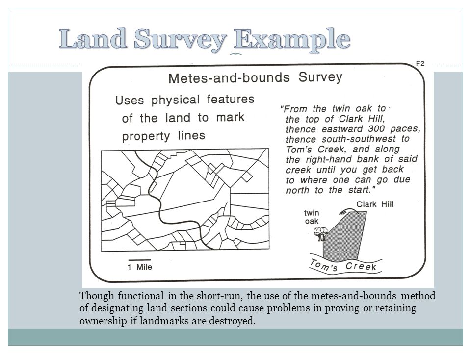 Day 10 ap human geography ppt video online download for Metes and bounds