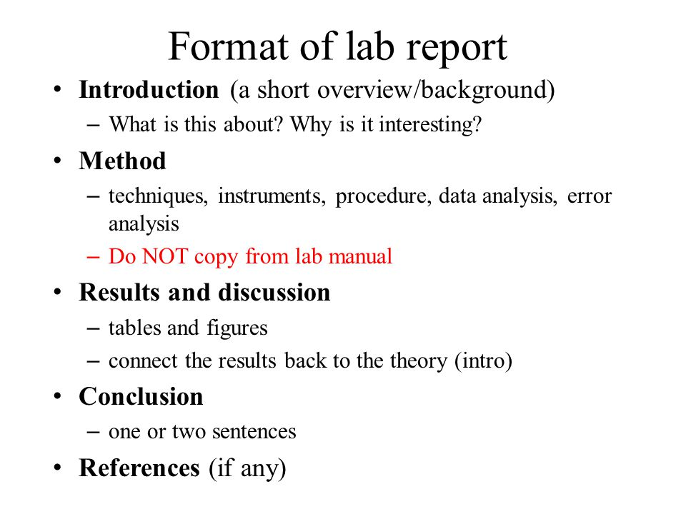 how to write a lab report for physics 1291/2 physics lab report format leave yourself at least 45 minutes to do the analysis and write up the report, so lab report – soda bottle experiment.
