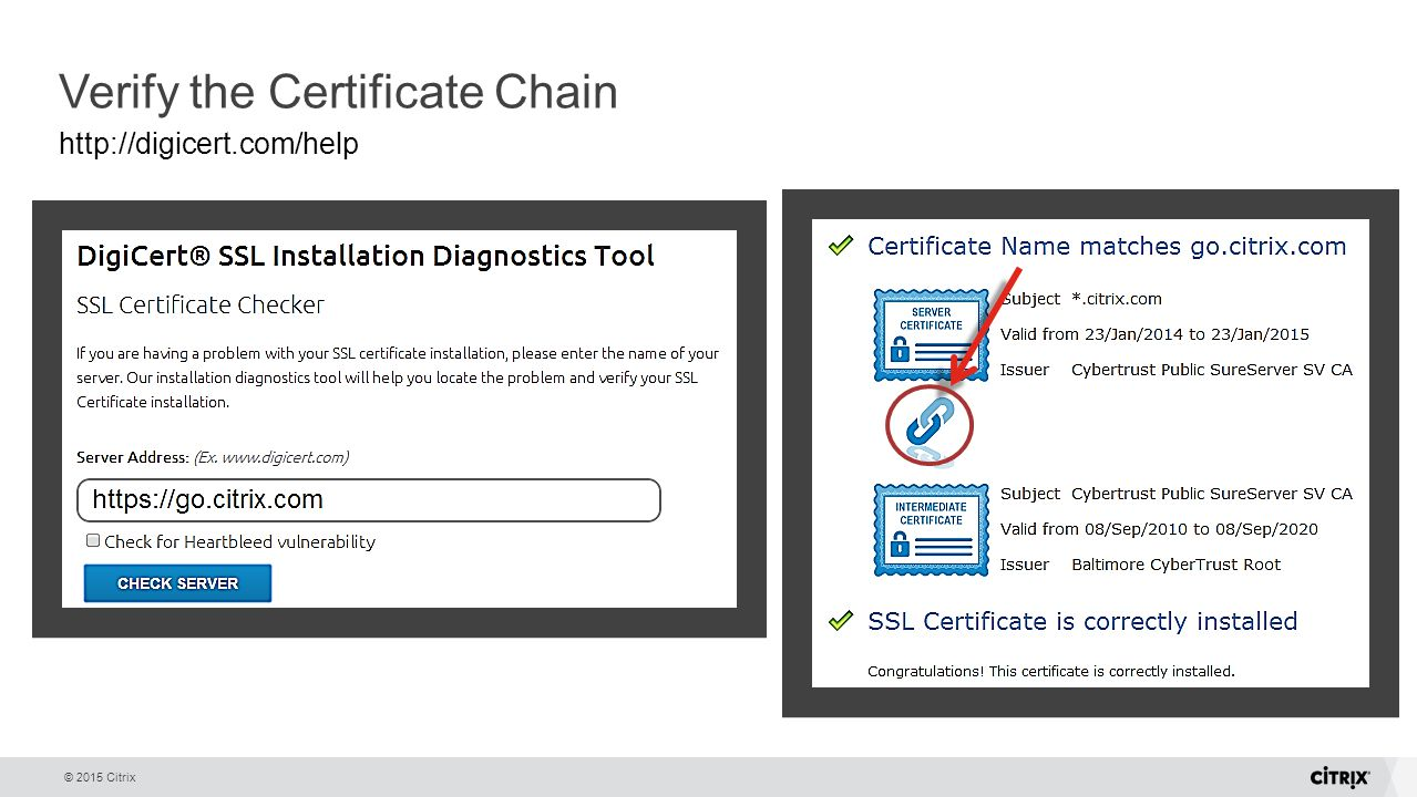Netscaler gateway with citrix desktops apps ppt download verify the certificate chain xflitez Image collections