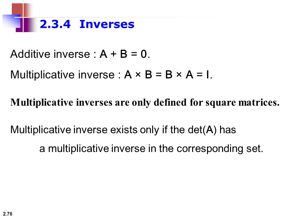 set of multiplicative inverses pdf