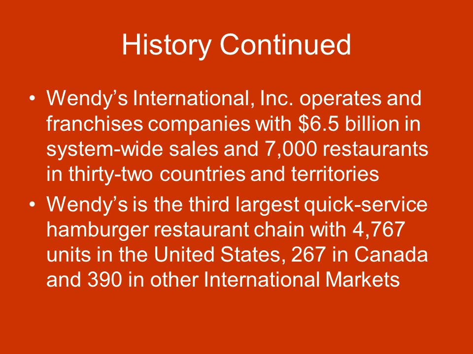 History of Wendy's – How It All Began