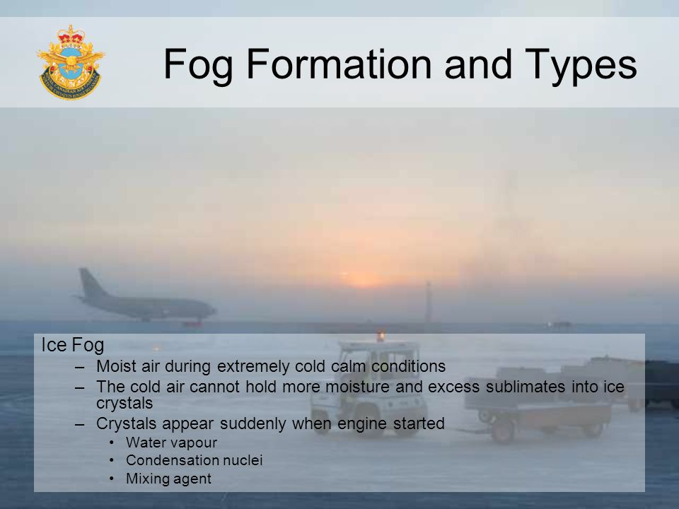 Fog Formation and Types