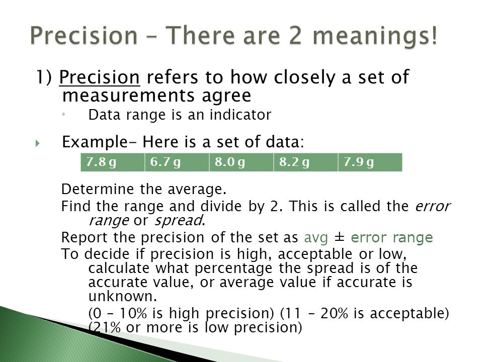 Accuracy And Precision Ppt Video Online Download