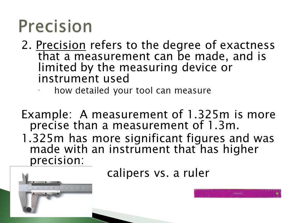 Examples Of Measurement Instruments : Accuracy and precision ppt video online download
