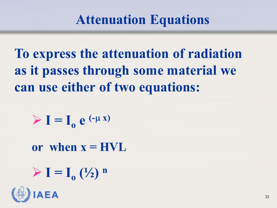 Attenuation Equations