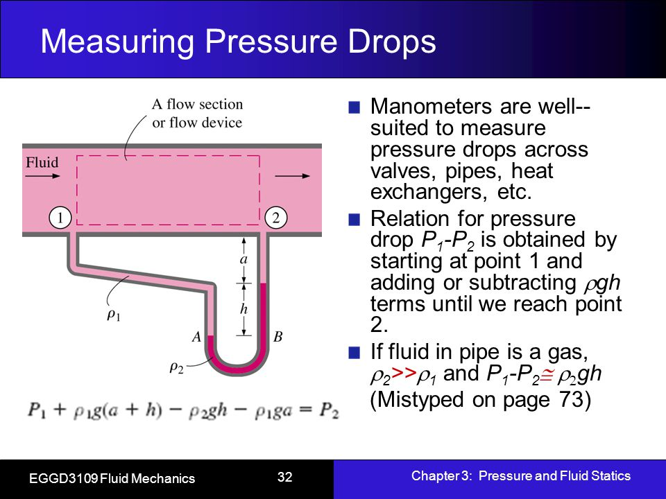 Chapter 3 Pressure And Fluid Statics Ppt Video Online Download
