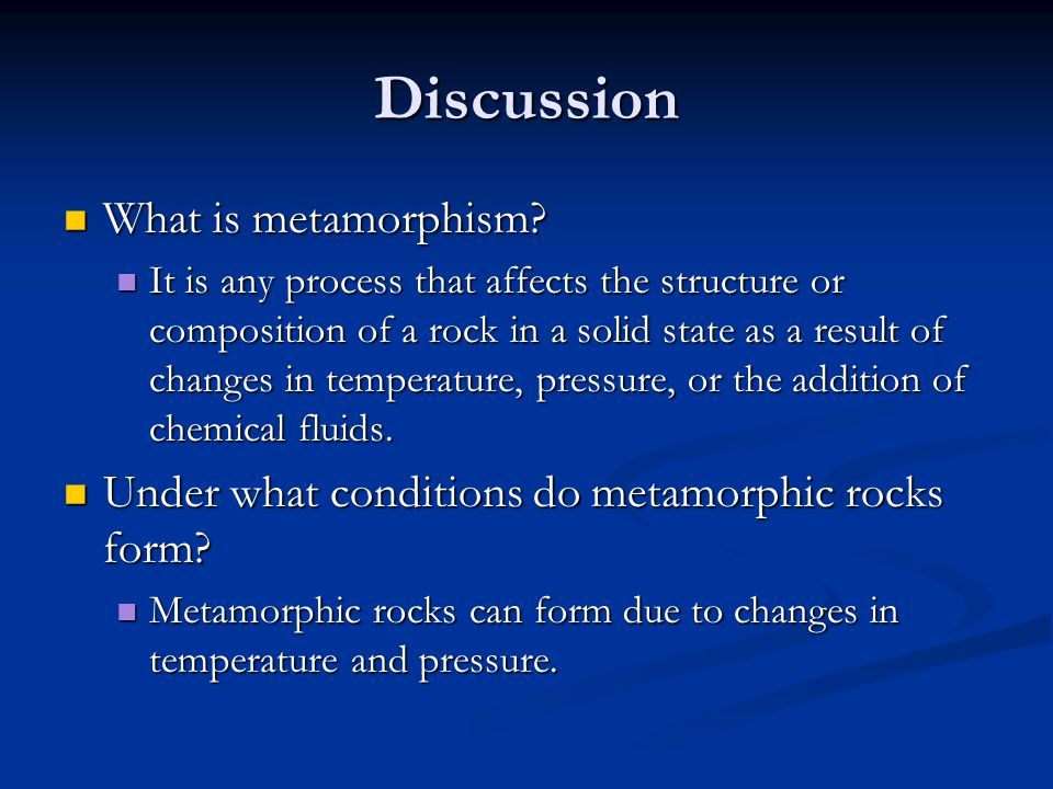 3.4 Metamorphic rocks form as existing rocks change - ppt download