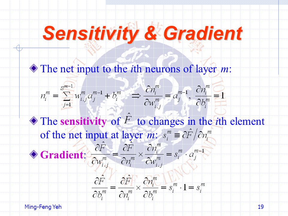 Sensitivity & Gradient