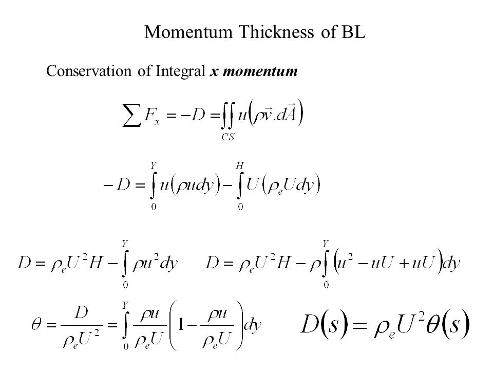 Momentum Thickness of BL