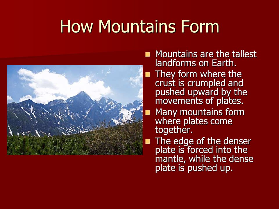 Chapter 2 Lesson 3 How Do Movements Of The Earth's Crust Change ...