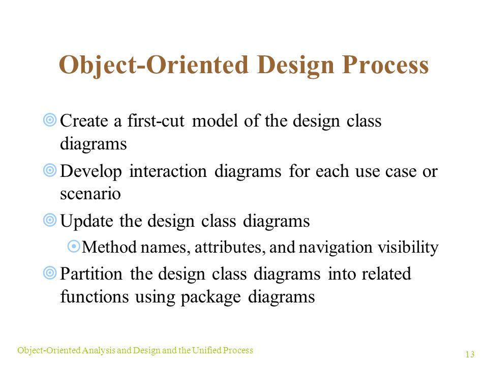 Object-Oriented Design Process