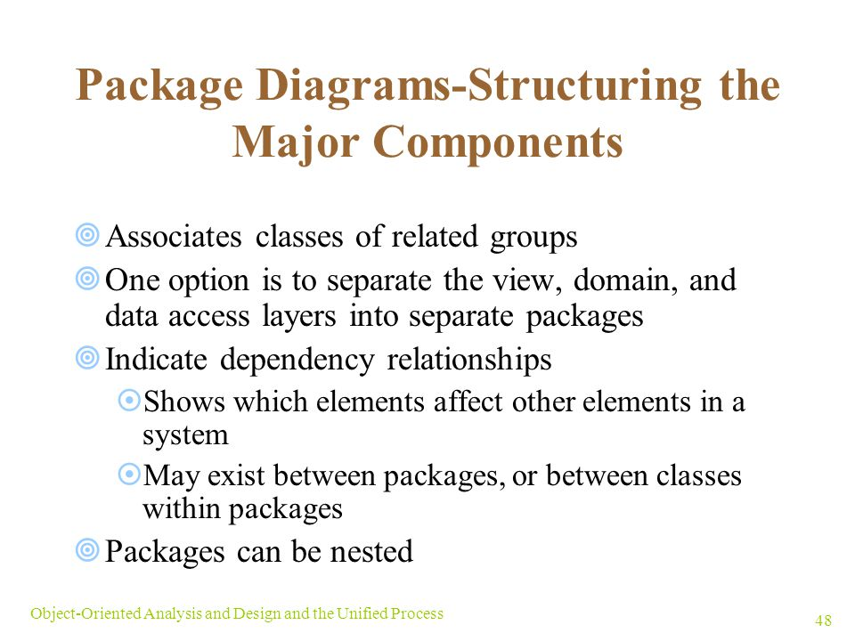 Package Diagrams-Structuring the Major Components