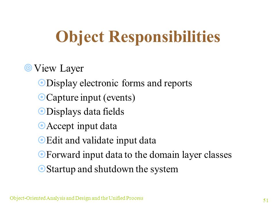 Object Responsibilities