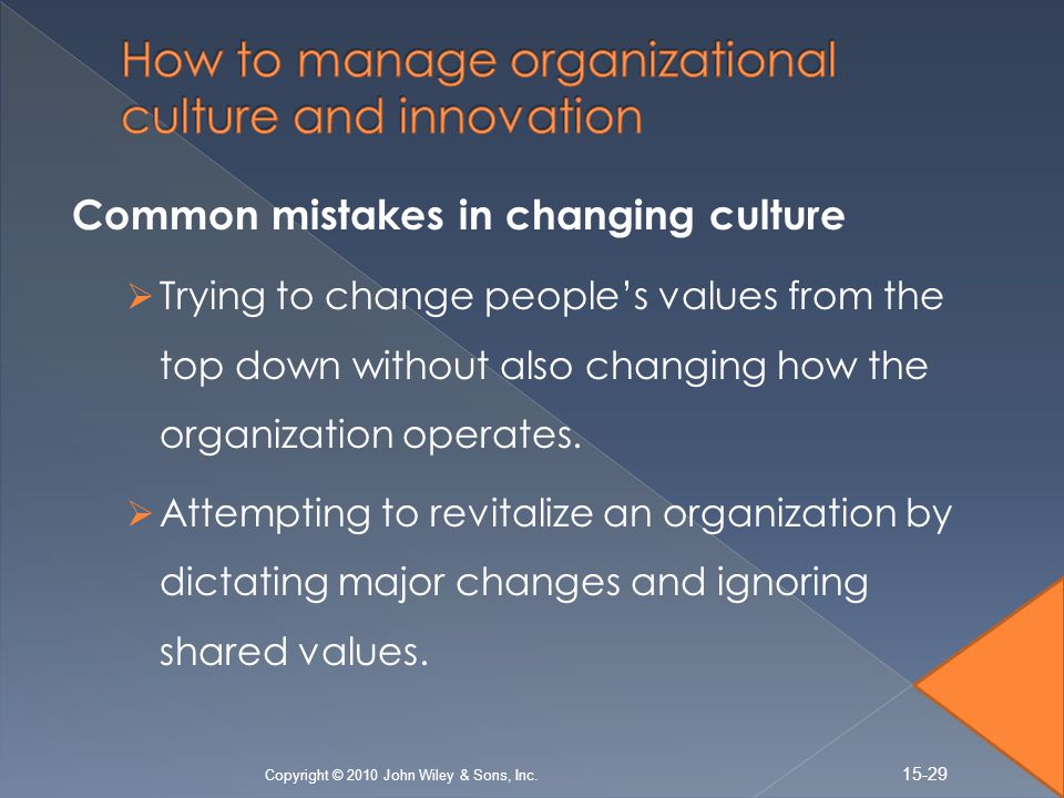 managing organizational change and innovation The 7 principles of highly effective innovation culture change programs (part 1) by: organizational change management and transformation have become permanent topics on the management frank mattes has more than 15 years of experience in managing innovation, change management and projects.