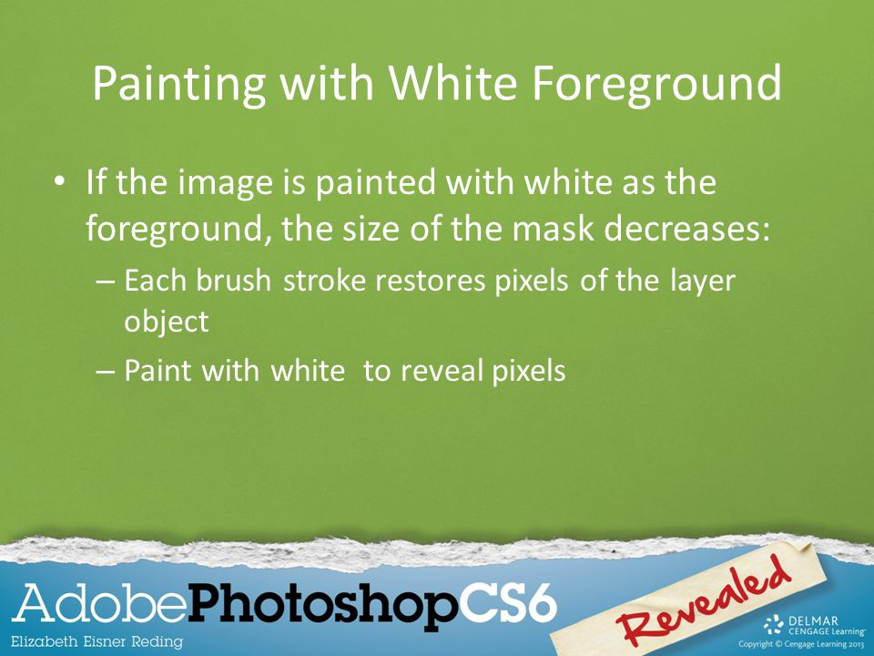 Painting with White Foreground