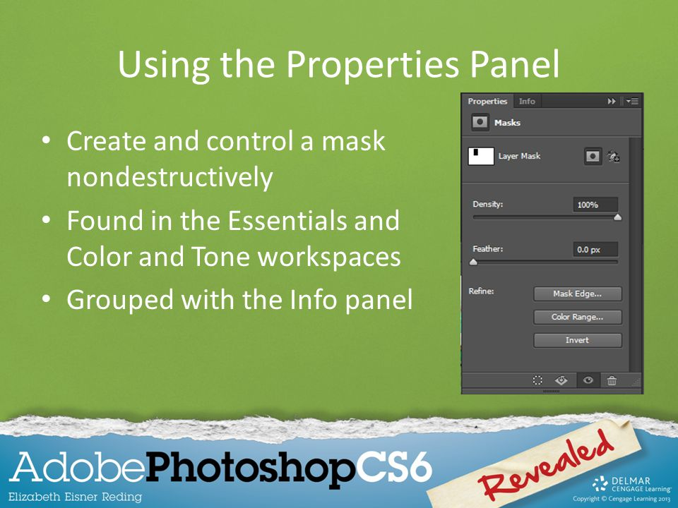 Using the Properties Panel