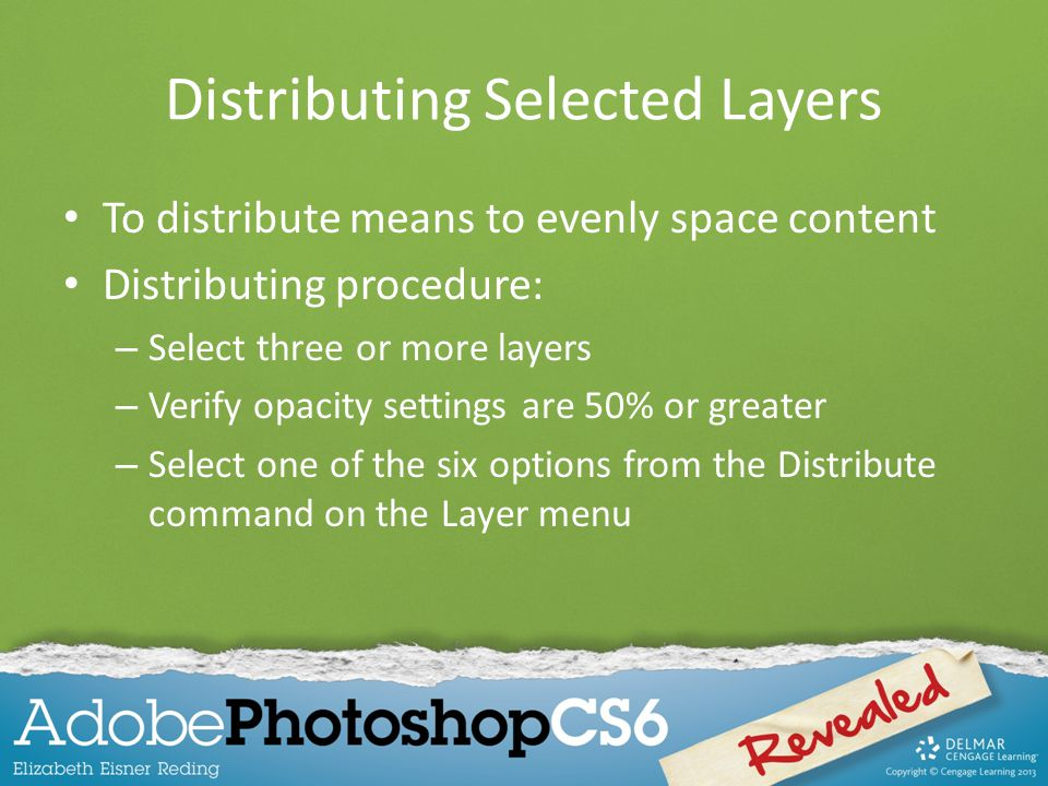 Distributing Selected Layers