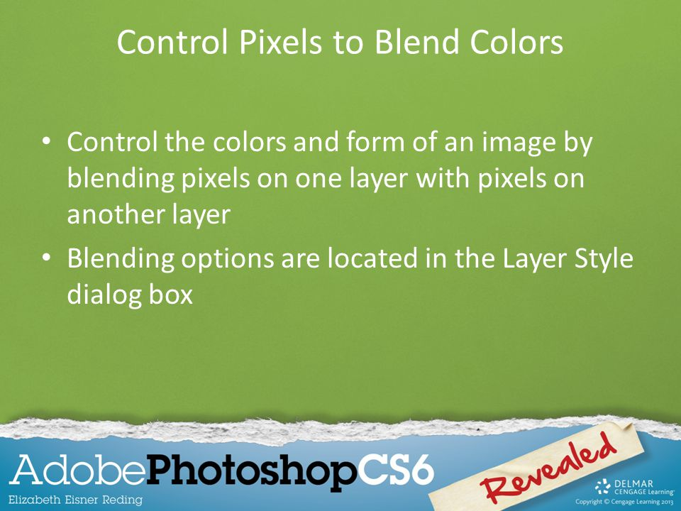 Control Pixels to Blend Colors