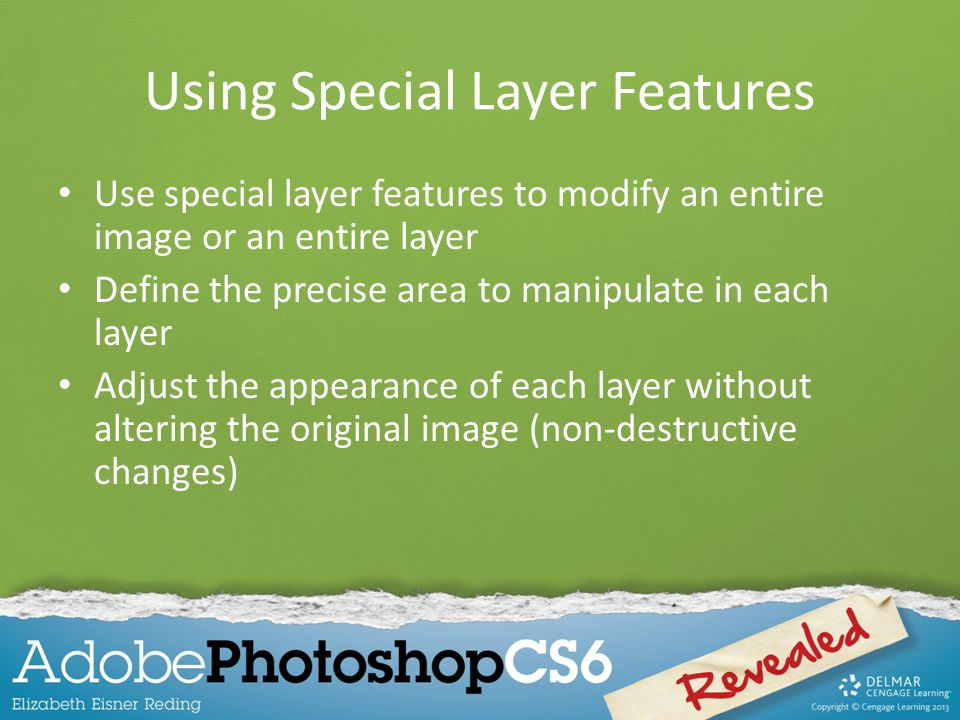 Using Special Layer Features
