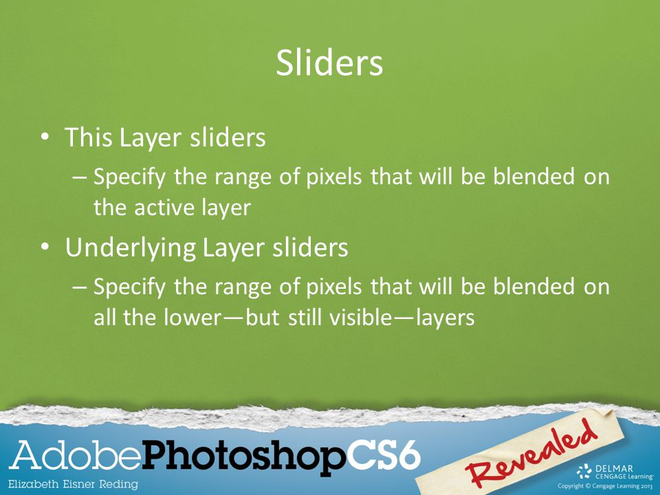 Sliders This Layer sliders Underlying Layer sliders