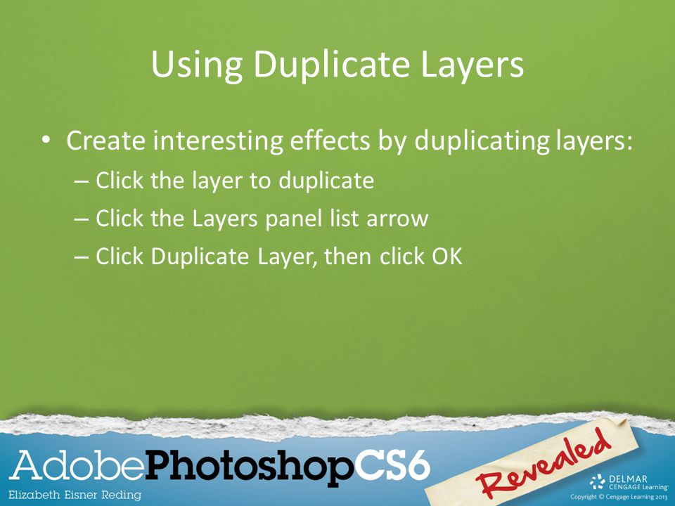 Using Duplicate Layers